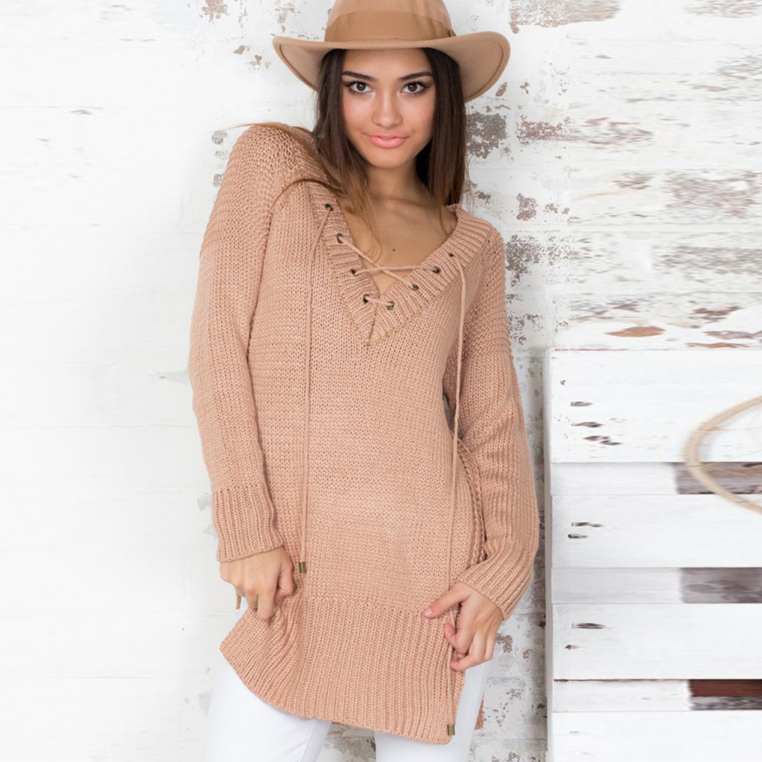 Casual-Women-Sweater-Outwear-Coat-Sweater-Long-Sleeve-Knitted-Cardigan-Loose